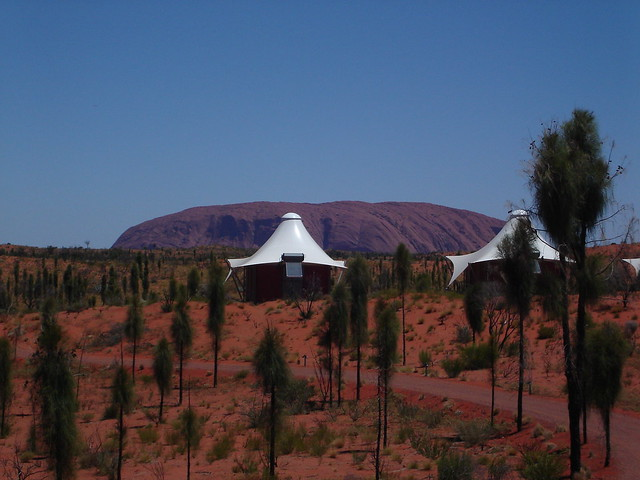 Located in Central Australia, longitude 131 sees itself as an iconic resort overlooking Australias most famous landmark Ayers Rock, and prides itself in being luxurious outdoor camp situated in the Australian Wild.