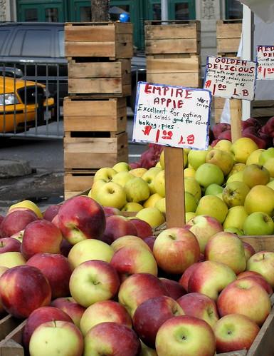 empire apple, golden delicious