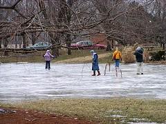 park ice pond