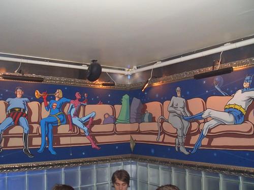 Mural in Super bar, Helsinki