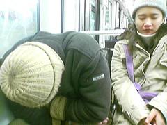 Sueño en el metro