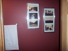 New pictures in powder room