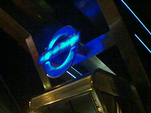 Vauxhall Terminal: London Transport Logo in Blue Phase