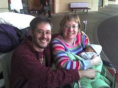 New family leaving hospital