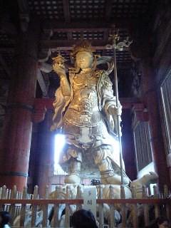 inside a temple in Nara
