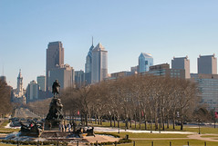 Downtown Philadelphia, from the steps of the Philadelphia Museum of Art
