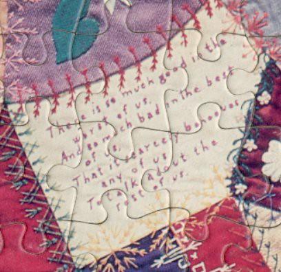 Verse - jigsaw quilt