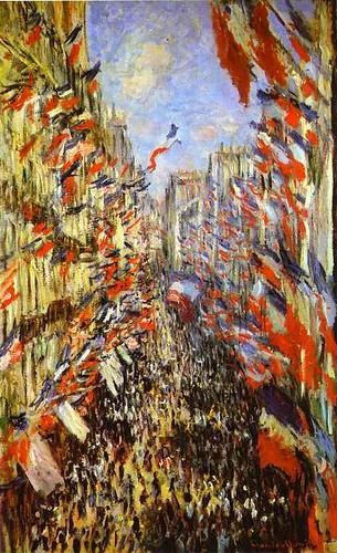 Claude Monet Rue Montorgueil Paris Festival of June 30 1878