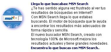 Presentación MSN Search