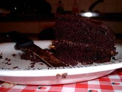 Eaten chocolate Cake