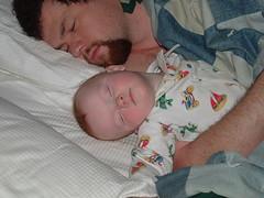 daddy and buddy asleep