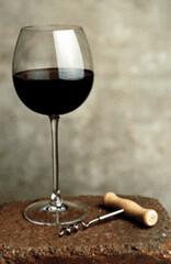 Wine Glass and Corkscrew