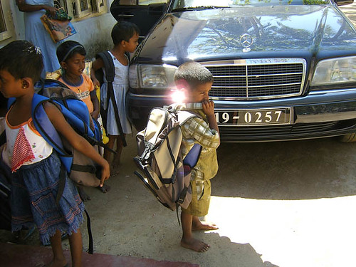 Child With Backpack in Wenamulla