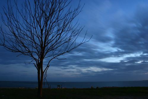 blue sunset sky mississippi pascagoula