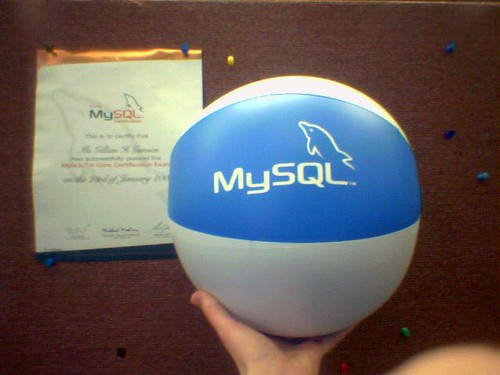 MySQL certification comes with swag