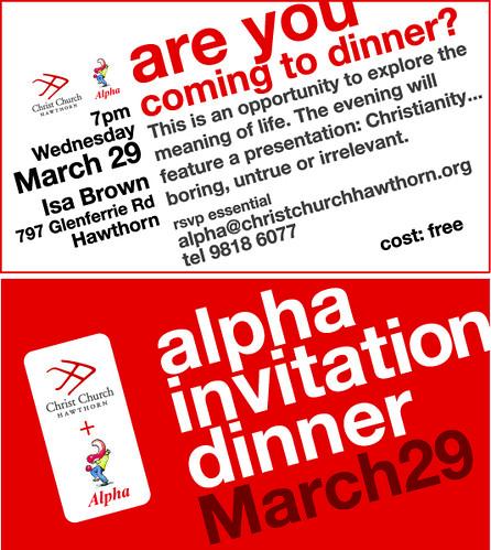 Alpha Invitation Business Cards For 2006 Alpha Australia C