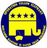 yellow elephant sticker