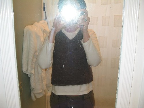 dirty bathroom mirror