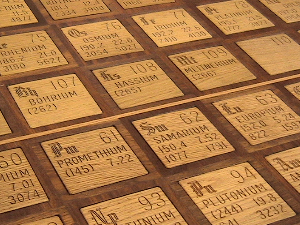 Wooden Periodic Table  This periodic table of the elements   Flickr