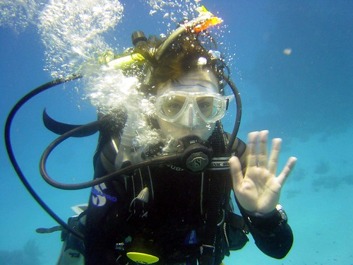 Roisin scuba dives | by Ruth and Dave