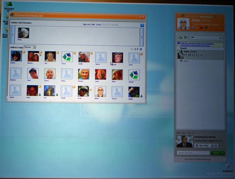 Windows Live Messenger friends list