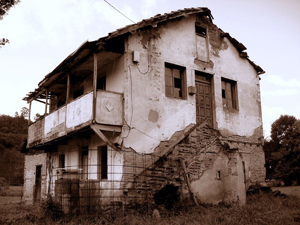 Casa abandonada   El paso del tiempo y la dejadez pueden