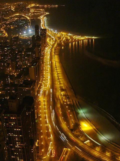 Chicagoland - Lake Shore Drive at night