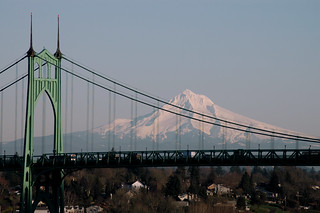 St Johns Bridge and Mt Hood | by chriskruell