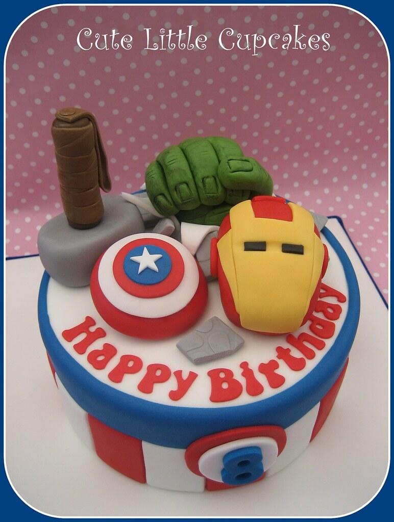 Miraculous Avengers Birthday Cake Heidi Stone Flickr Funny Birthday Cards Online Drosicarndamsfinfo