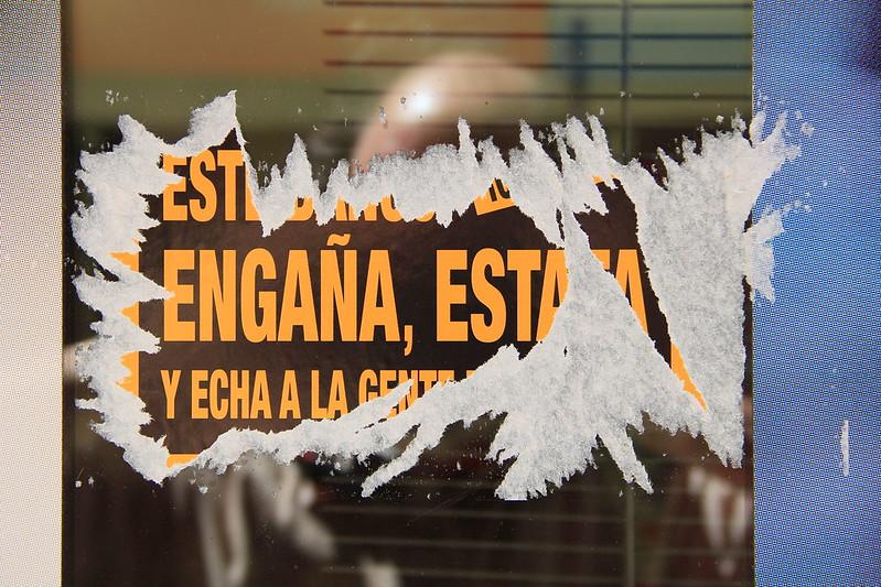 Banc Estafa (05) Protesta. Banc Santander. Pl.Rosanes. Sueca.12-4-2013