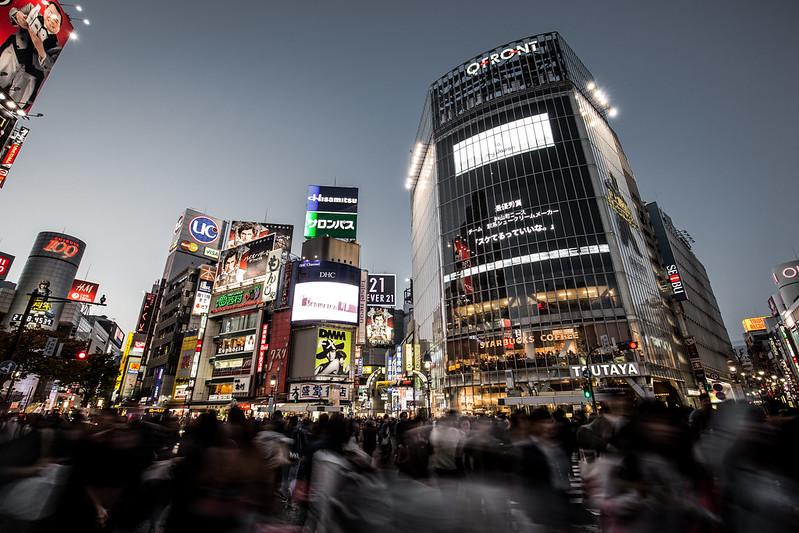 Massive Crowds in Shibuya Tokyo