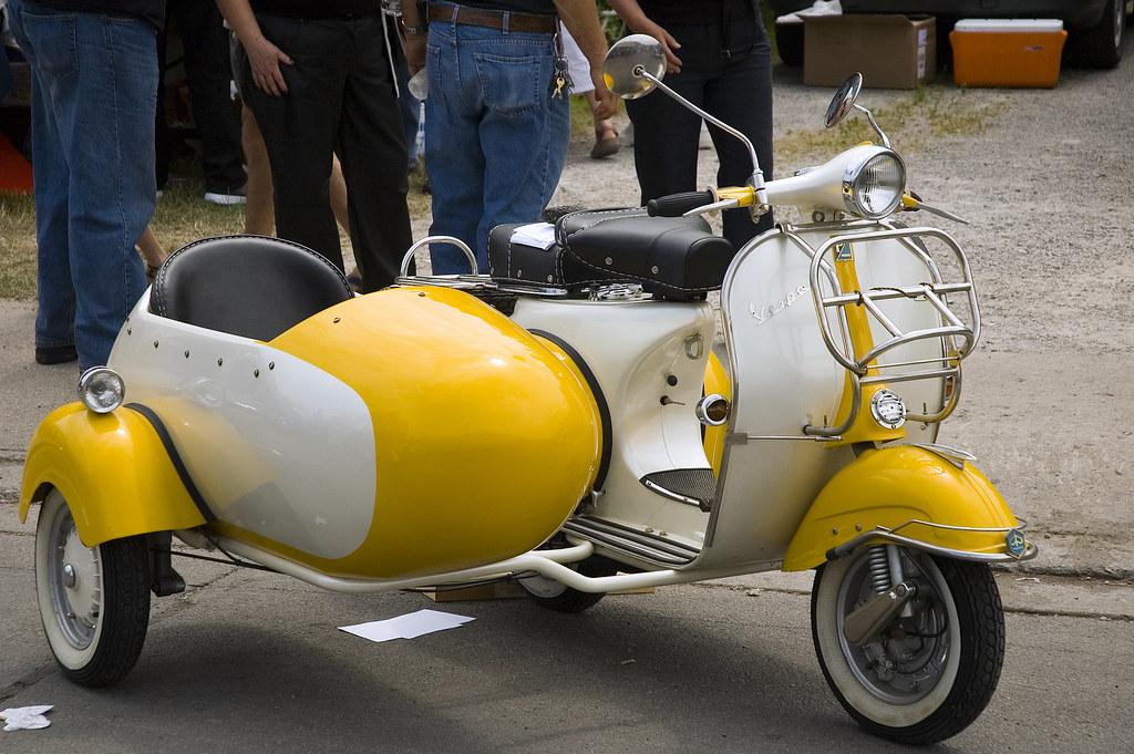 Vintage Vespa with Sidecar | Cory George | Flickr