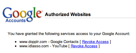 Google Authorized Websites
