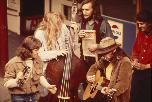 Street musicians at Pike Place Market, circa 1975 | by Seattle Municipal Archives
