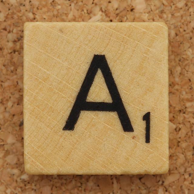 Wood Scrabble Tile A