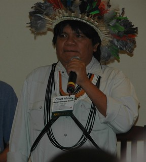Chief Almir of the Surui Tribe Speaking at Social Venture Network Conference