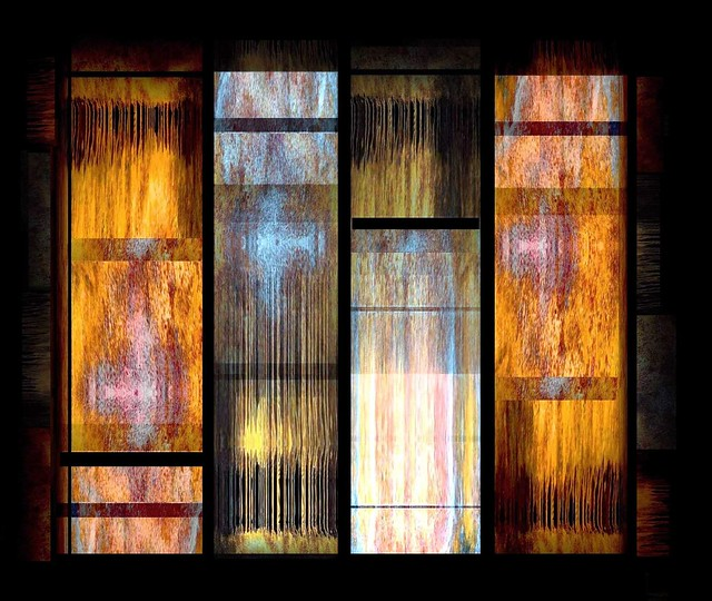 Burnished Gold & Beaten Silver Assemblage (Zen Abstraction #8)