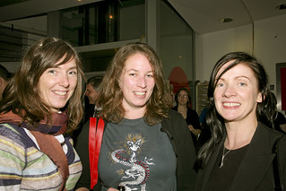 Guests enjoying the launch   by darklight festival