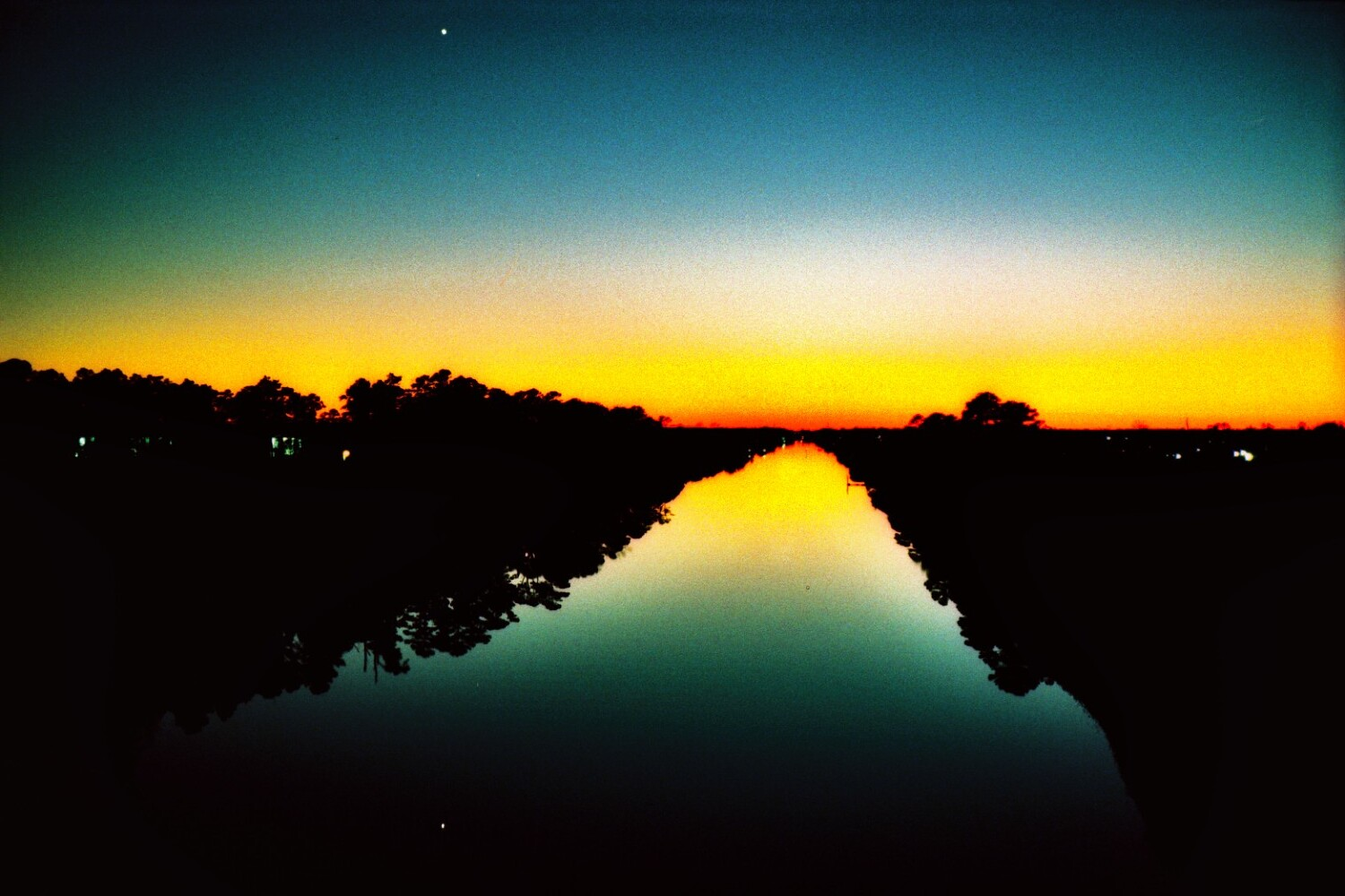Venus at Sunset above her Reflection in the Atlantic Intracoastal Waterway on Flickr