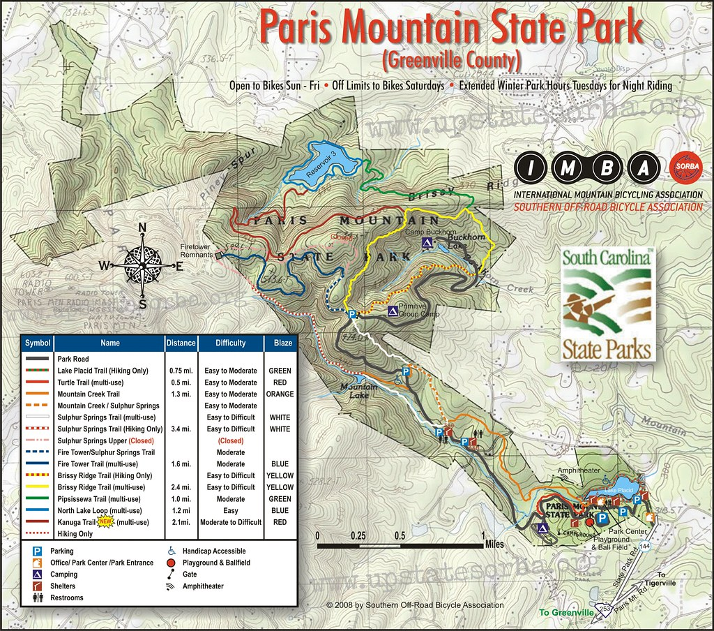 Paris Mountain State Park Map Paris Mountain State Park   Greenville , South Carolina | Flickr