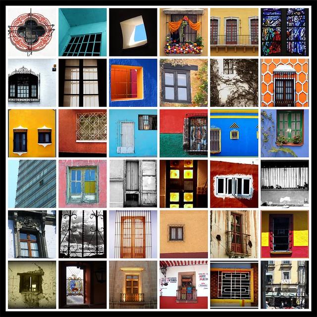 Mosaico de ventanas en Muestra tu México