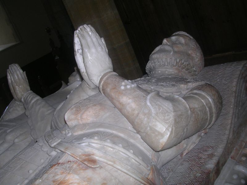Gage tomb Sir John and his wife Philippa Firle church Lewes to Berwick via West Firle