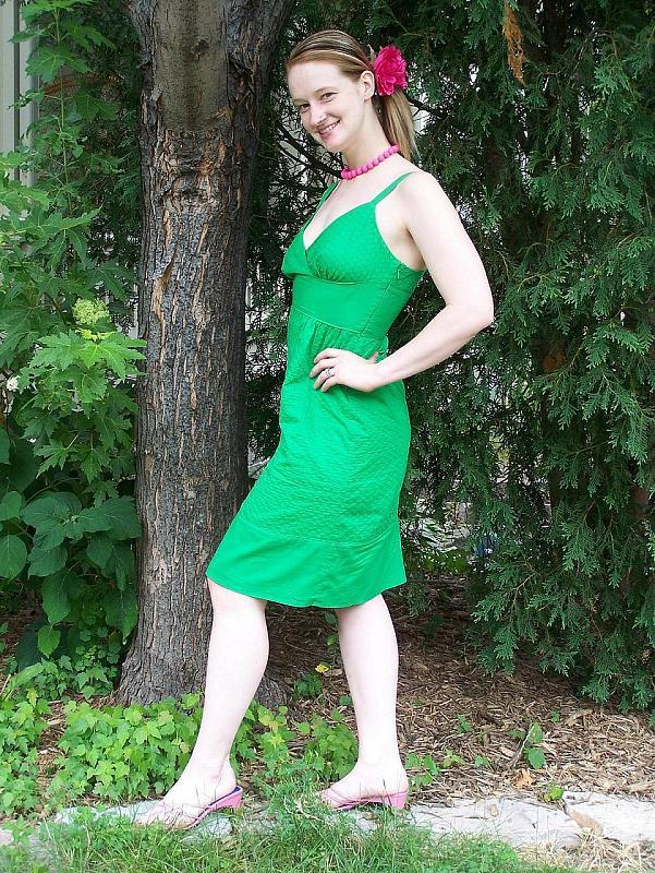 not a real green dress, that's cruel