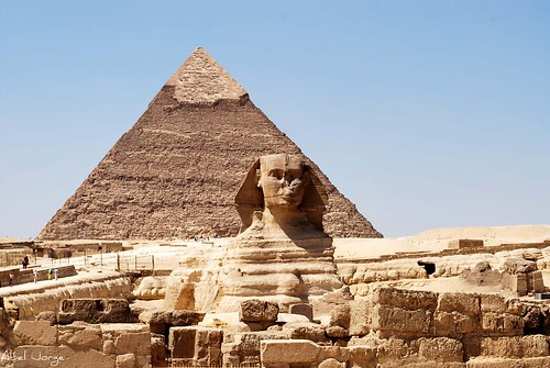 Esfinge y Pirámide de Kefren   by Abel JORGE