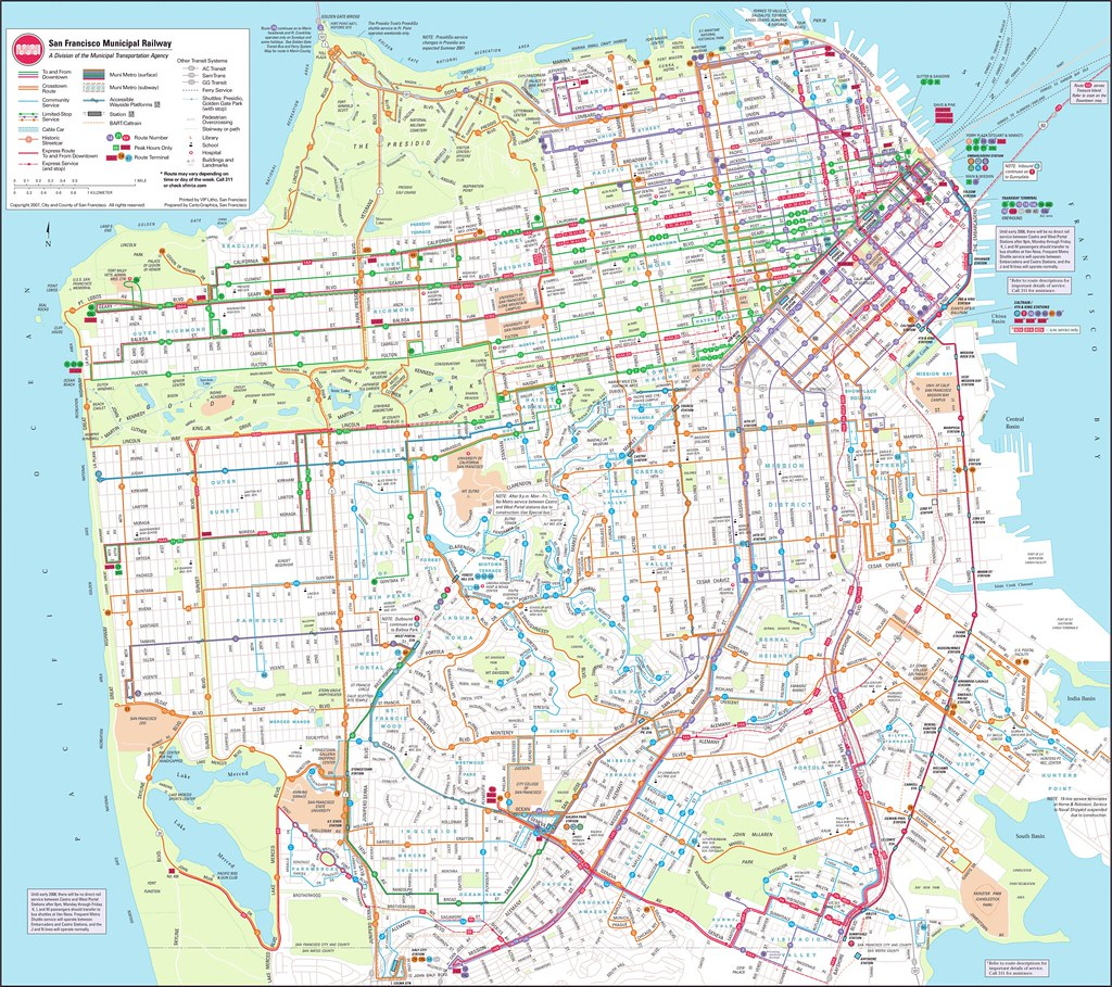 HUGE] SF MUNI MAP | joellewis76 | Flickr