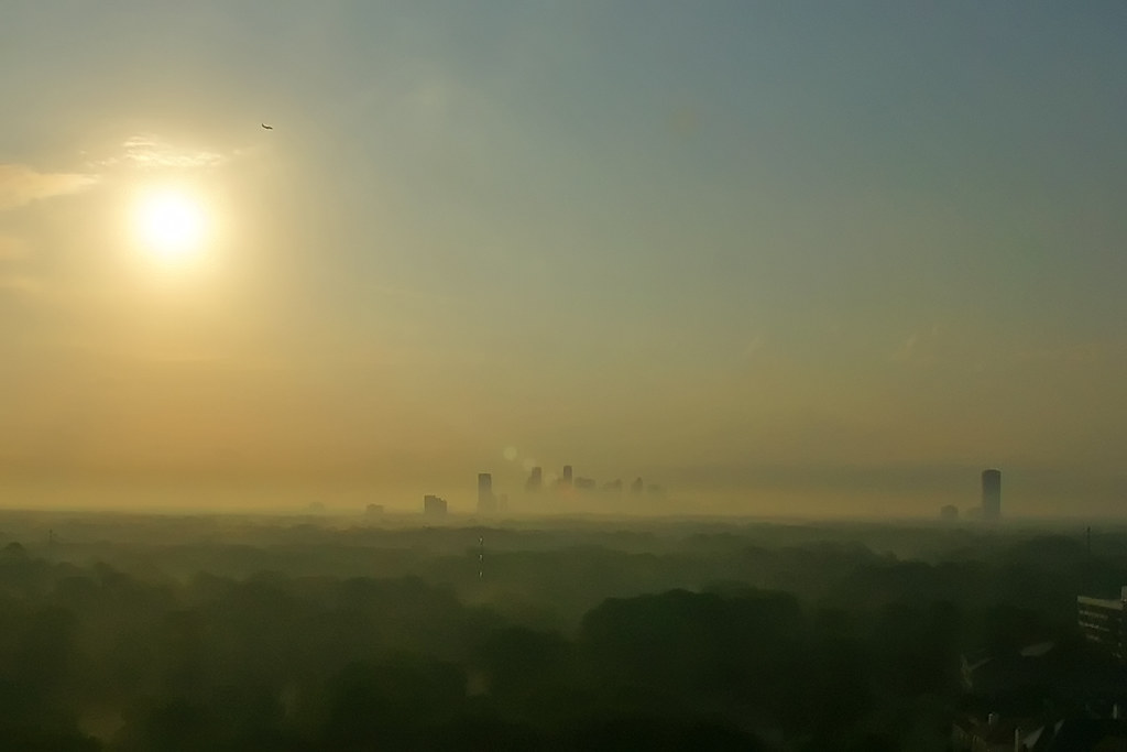 Houston In The Fog by baldheretic