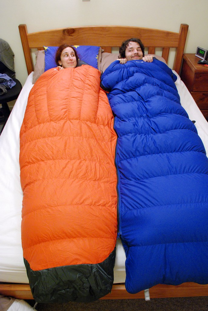 One sleeping bag