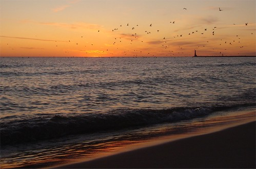 sunset lighthouse beach birds reflections tears dad waves michigan father theend lakemichigan missyou sorrow grief muskegon whauden funeralblues