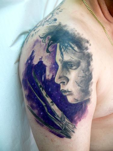 scissorhands tattoo