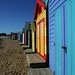 The beach huts at South Brighton Beach Melbourne by famkefonz